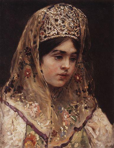 Портрет девушки в русском костюме. 1910-е.jpg (386x500, 41Kb)