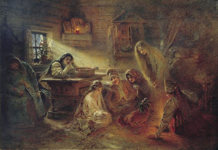 Константин МАКОВСКИЙ (1839-1915). Святочное гадание..jpg (699x480, 138Kb)