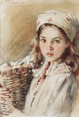 Головка девочки в платке маковский.jpg (339x500, 39Kb)