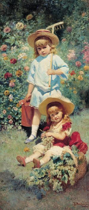 Константин МАКОВСКИЙ (1839 — 1915). Портрет детей художника. 1882,.jpg (298x698, 123Kb)