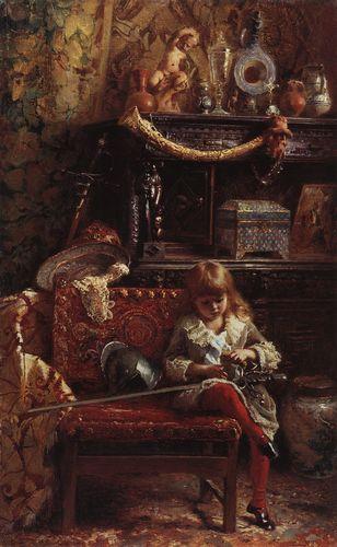 маковский Портрет сына в мастерской (Маленький антиквар). 1882.jpg (308x500, 33Kb)