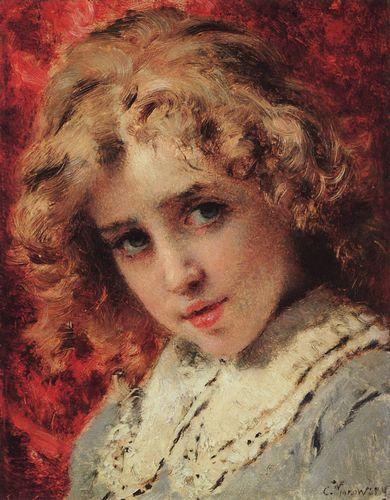 маковский Детская головка (Портрет сына Константина). Конец 1890-х.jpg (390x500, 45Kb)