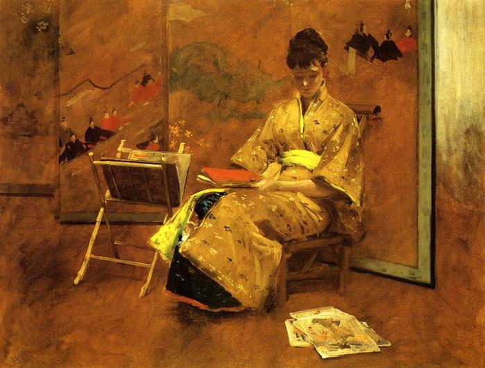The Kimono - (William Merritt Chase - circa 1895.jpg (699x531, 66Kb)