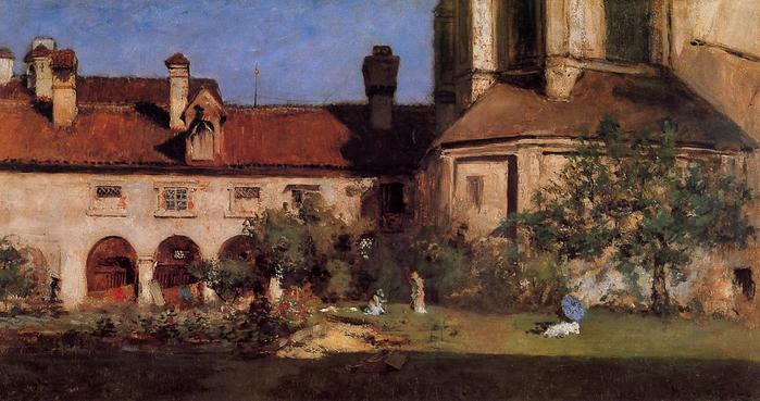 The Cloisters - (William Merritt Chase - circa 1880.jpg (699x369, 53Kb)