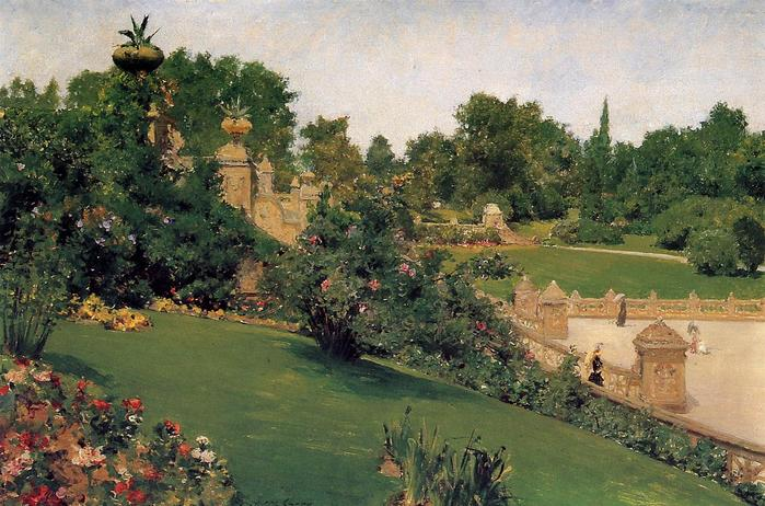 Terrace at the Mall, Cantral Park - (William Merritt Chase - circa 1890.jpg (699x462, 76Kb)
