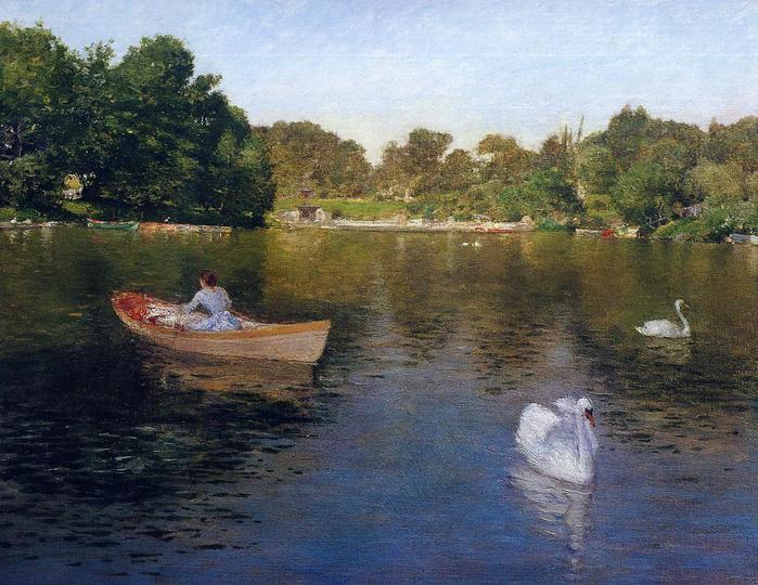 On the Lake, Central Park - (William Merritt Chase - circa 1890.jpg (699x540, 75Kb)