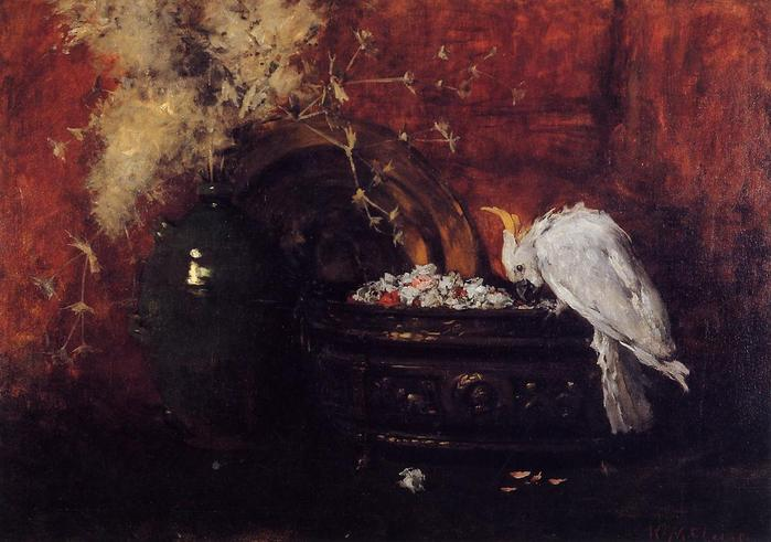 Still Life with Cockatoo - (William Merritt Chase - circa 1881.jpg (699x491, 50Kb)