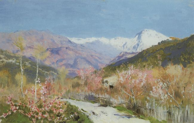 левитан  Весна в Италии. 1890.jpg (650x411, 44Kb)
