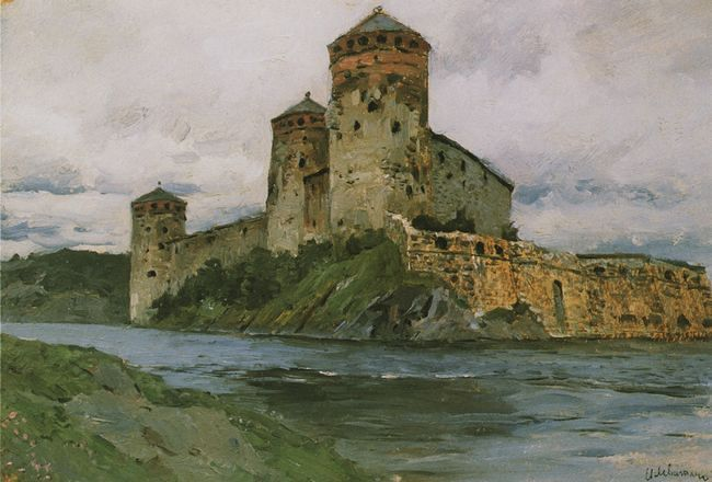 левитан Крепость. Финляндия. Этюд. 1896.jpg (650x440, 48Kb)