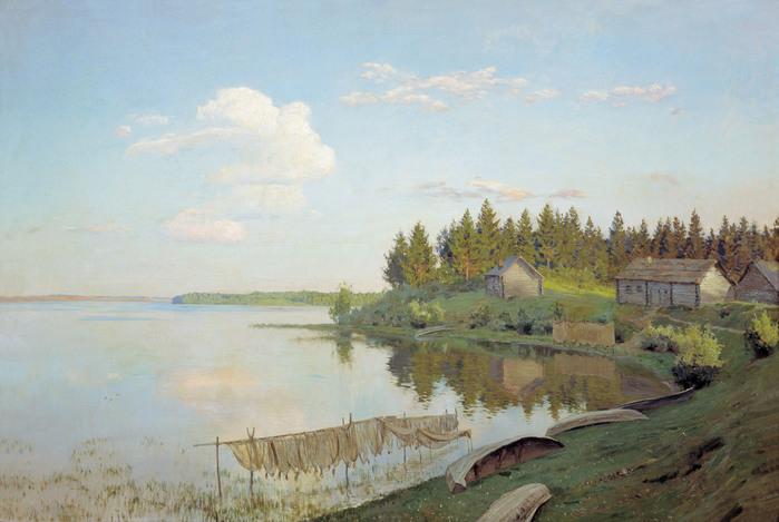левитан На озере. 1893.jpg (699x469, 104Kb)