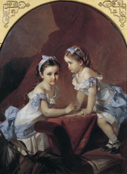 Портрет Лизы и Наташи Араповых. 1879.jpg (510x699, 113Kb)