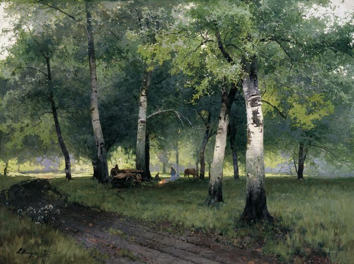 Шильдер Берёзовый лес. 1908.jpg (699x522, 187Kb)