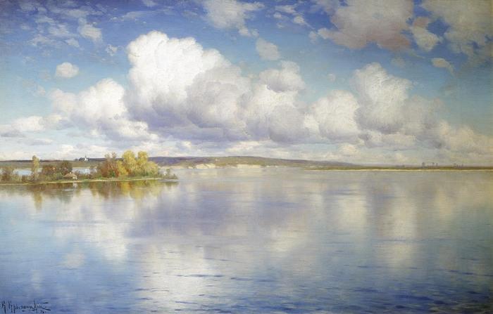 Константин КРЫЖИЦКИЙ (1858 — 1911). Озеро. 1896.jpg (700x447, 76Kb)
