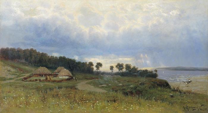 Константин КРЫЖИЦКИЙ (1858 — 1911). Перед дождём.jpg (700x382, 80Kb)