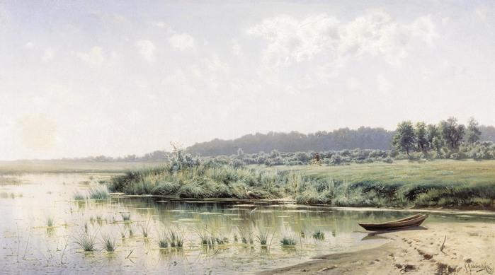 Константин КРЫЖИЦКИЙ (1858 — 1911). Перед полуднем. 1885.jpg (699x389, 75Kb)