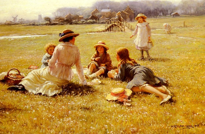 Blacklock_William_Kay 1872-1922  Пикник 1917.jpg (699x457, 153Kb)