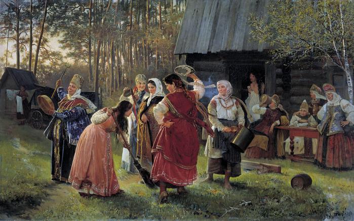 Алексей КОРЗУХИН (1835 — 1894). Девичник. 1889,.jpg (699x436, 175Kb)