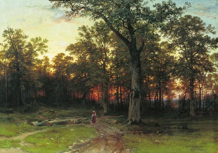 Иван ШИШКИН (1832-1898). Лес вечером. 1869.jpg (699x489, 161Kb)