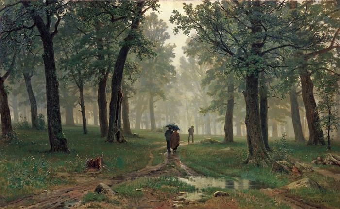 Иван ШИШКИН (1832 — 1898). Дождь в дубовом лесу. 1891.jpg (700x431, 158Kb)
