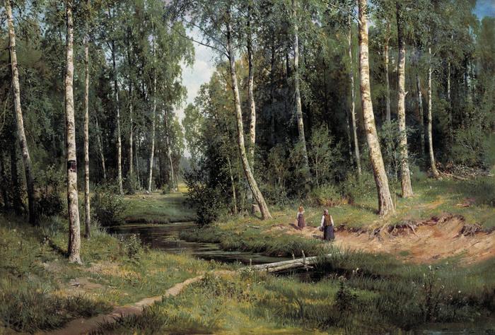 Иван ШИШКИН (1832 — 1898). Ручей в берёзовом лесу. 1883.jpg (700x474, 202Kb)