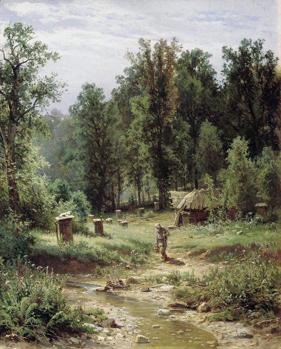 Иван ШИШКИН (1832 — 1898). Пасека в лесу. 1876,.jpg (562x698, 226Kb)
