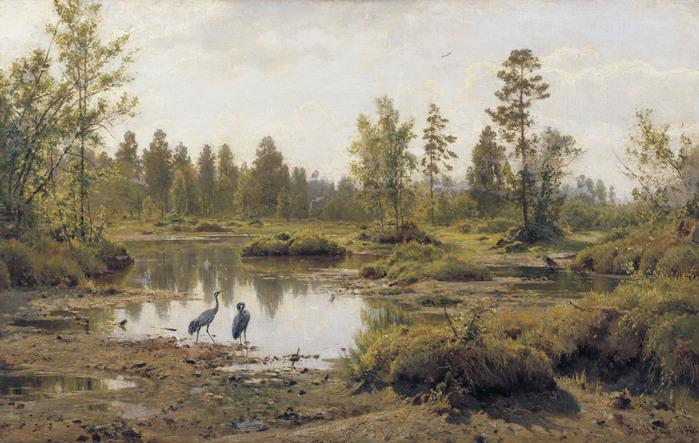 Иван ШИШКИН (1832 — 1898). Болото. Полесье. 1890.jpg (699x443, 146Kb)