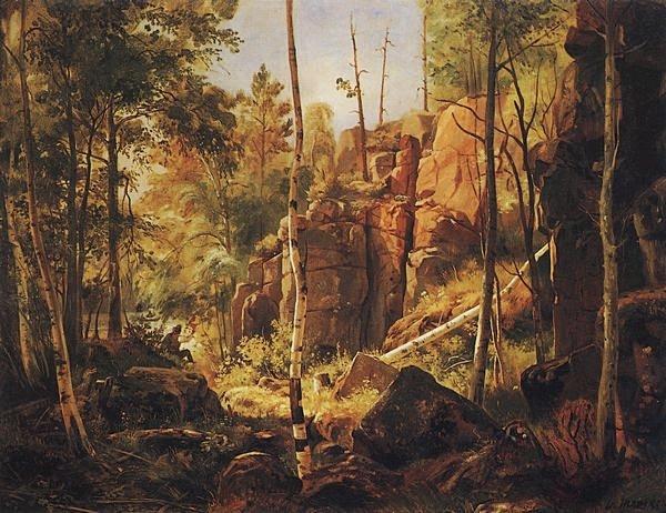 шишкин Вид на острове Валааме (Местность Кукко). 1859-1860.jpg (600x462, 246Kb)