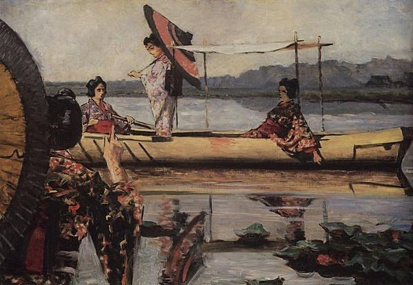 верещагин Прогулка в лодке. 1903-1904.jpg (600x415, 189Kb)