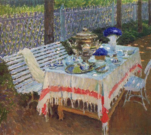 grabar Утренний чай ( В аллее ). 1917.jpg (500x445, 60Kb)