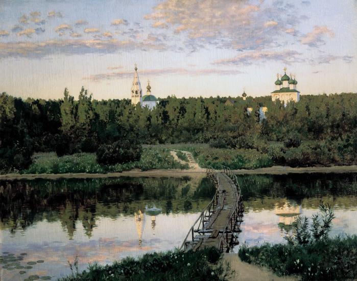 Исаак ЛЕВИТАН (1860 — 1900). Тихая обитель. 1890.jpg (699x550, 162Kb)