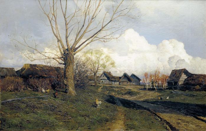 Исаак ЛЕВИТАН (1860 — 1900). Саввинская слобода под Звенигородом. 1884.jpg (699x444, 152Kb)