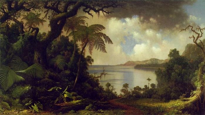 Вид на Ферн-Три Уолк, Ямайка  1870  Хэд.jpg (698x392, 229Kb)