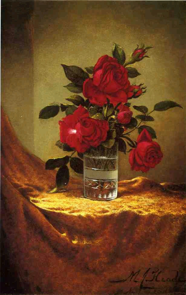 A Glass of Roses on Gold Cloth - (Martin Johnson Heade.jpg (615x971, 308Kb)