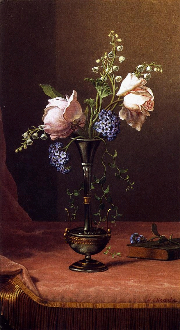 Victorian Vase with Flowers of Devotion - (Martin Johnson Heade - circa 1871-1880.jpg (619x1135, 499Kb)