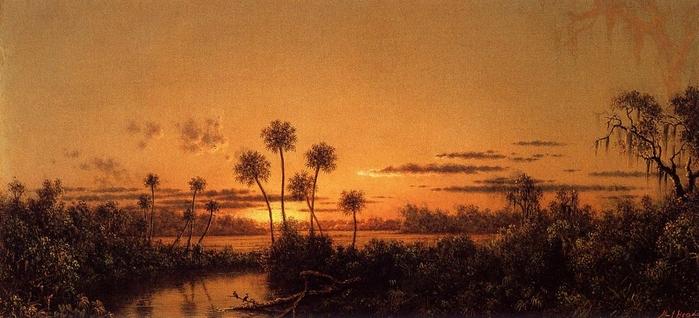 Флорида. Река на закате.jpg (699x318, 193Kb)