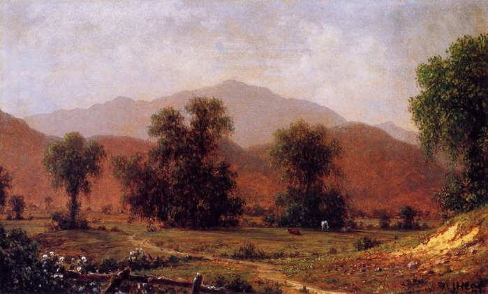 White Mountain Landscape, Mount Washington - (Martin Johnson Heade - 1871.jpg (699x421, 259Kb)