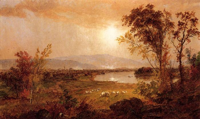 A Bend in the River - Jasper Francis Cropsey - 1892.jpg (699x415, 62Kb)