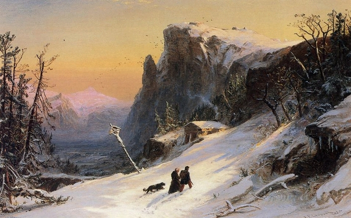 Winter in Switzerland - (Jasper Francis Cropsey - 1861.jpg (699x434, 268Kb)