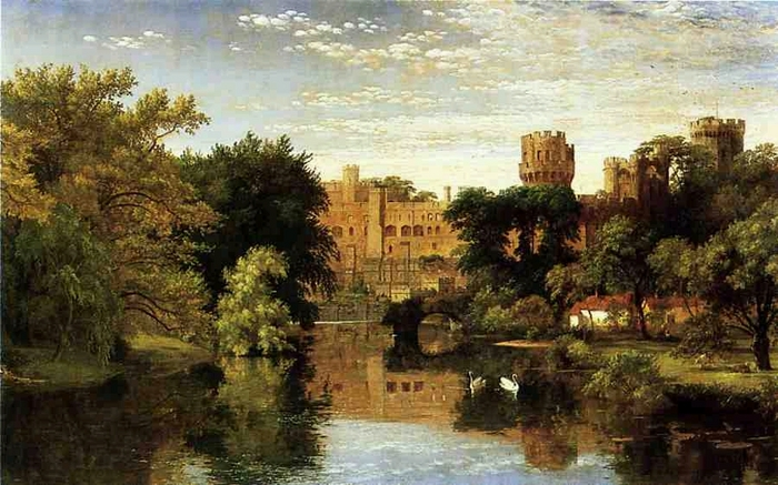 Warwick Castle, England - (Jasper Francis Cropsey - 1857.jpg (700x437, 268Kb)