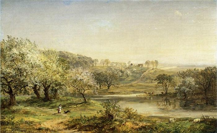 Spring, Chenango Valley - (Jasper Francis Cropsey - 1859.jpg (700x428, 265Kb)