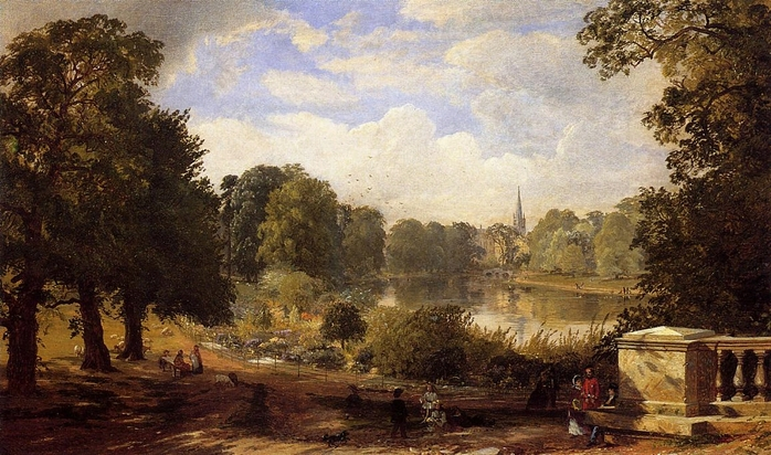 The Serptentine, Hyde Park, London - (Jasper Francis Cropsey - 1858.jpg (698x412, 274Kb)