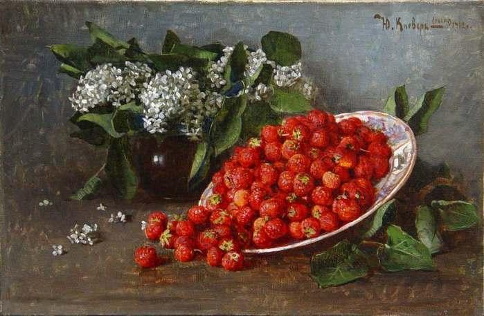 Клевер Юлий Юльевич (сын) (1882-1942). Натюрморт с сиренью и клубникой. 1912 г..jpg (699x457, 46Kb)