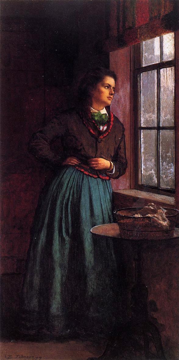 A Day Dream - (Eastman Johnson - 1877.jpg (587x1182, 491Kb)