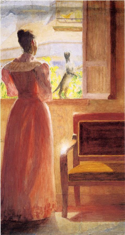 Anschutz_Thomas_P_Lady_by_a_Window 1890.jpg (478x901, 68Kb)
