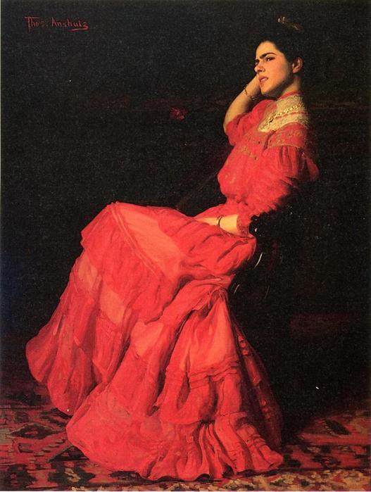 Anschutz_Thomas Pollock 1851-1912  A_Rose 1908.jpg (527x699, 54Kb)