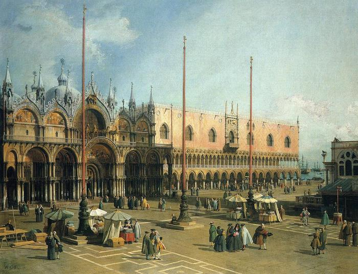 Piazza San Marco - (Canaletto - 1735-1740.jpg (700x536, 81Kb)