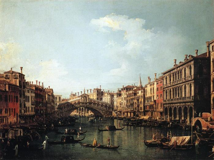 Rialto Bridge from the South - (Canaletto - 1735-1740.jpg (699x523, 66Kb)