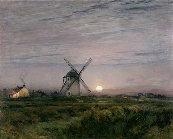 Lever de Lune sur Le Moulin à Vent Jean-Charles Cazin1841-1901.jpg (597x480, 38Kb)