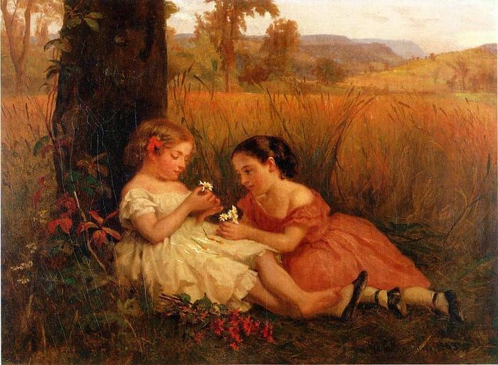 He Loves Me, He Loves Me Not - (George Cochran Lambdin - 1863.jpg (700x514, 72Kb)