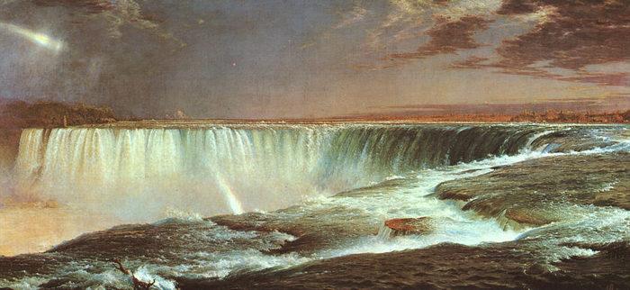 Church, Frederic Edwin (American, 1826-1900) Ниагарский водопад.jpg (700x322, 65Kb)